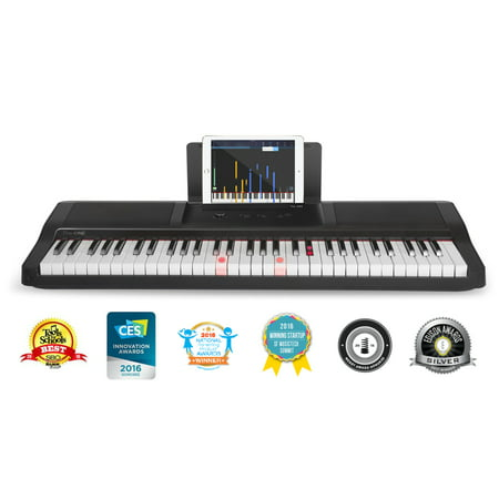 The ONE Smart Piano - Light Keyboard, Black](black friday electric piano deals)
