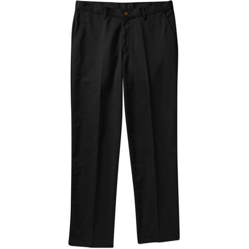 George Big Men's Flat Front 100% Cotton Twill Pant with Scotchgard