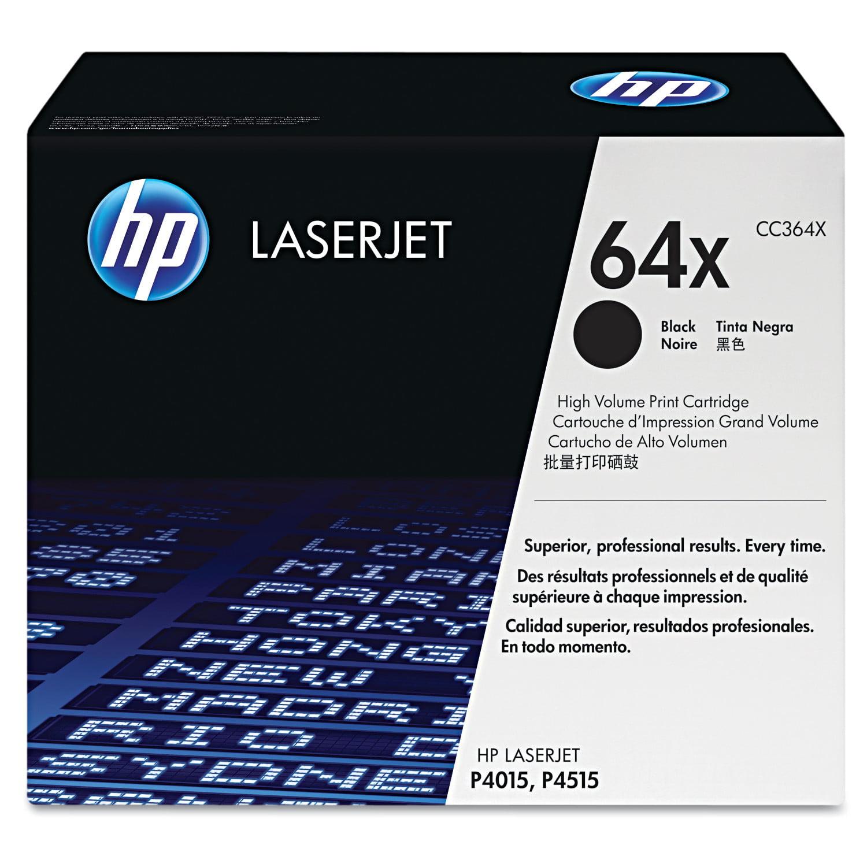 HP 64X (CC364X) Black High Yield Original Laser Jet Toner Cartridge by HP
