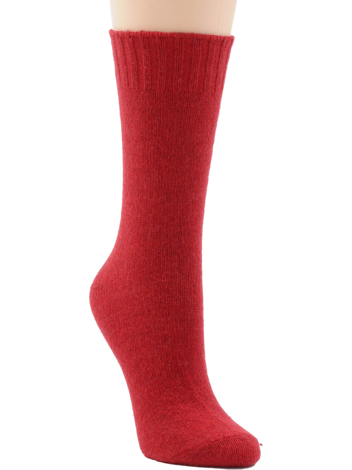Womens Socks Crew Virgin Wool Cashmere Blend 23 Color Choices Made USA