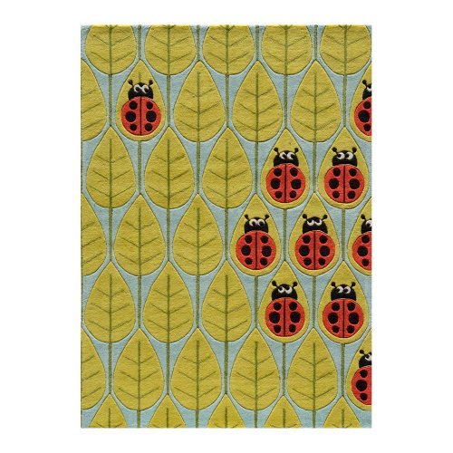 Momeni Lil mo whimsy LMJ13 Area Rug - Lady bug red
