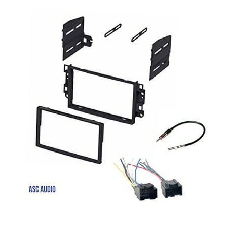 ASC Double Din Car Stereo Dash Kit, Wire Harness, Antenna Adapter to Install Radio for some Pontiac G3 (07-2009 Sedan Only) - Chevrolet Aveo (2007 2008 Sedan Only)- Chevrolet Aveo (2009 2010 2011 All)