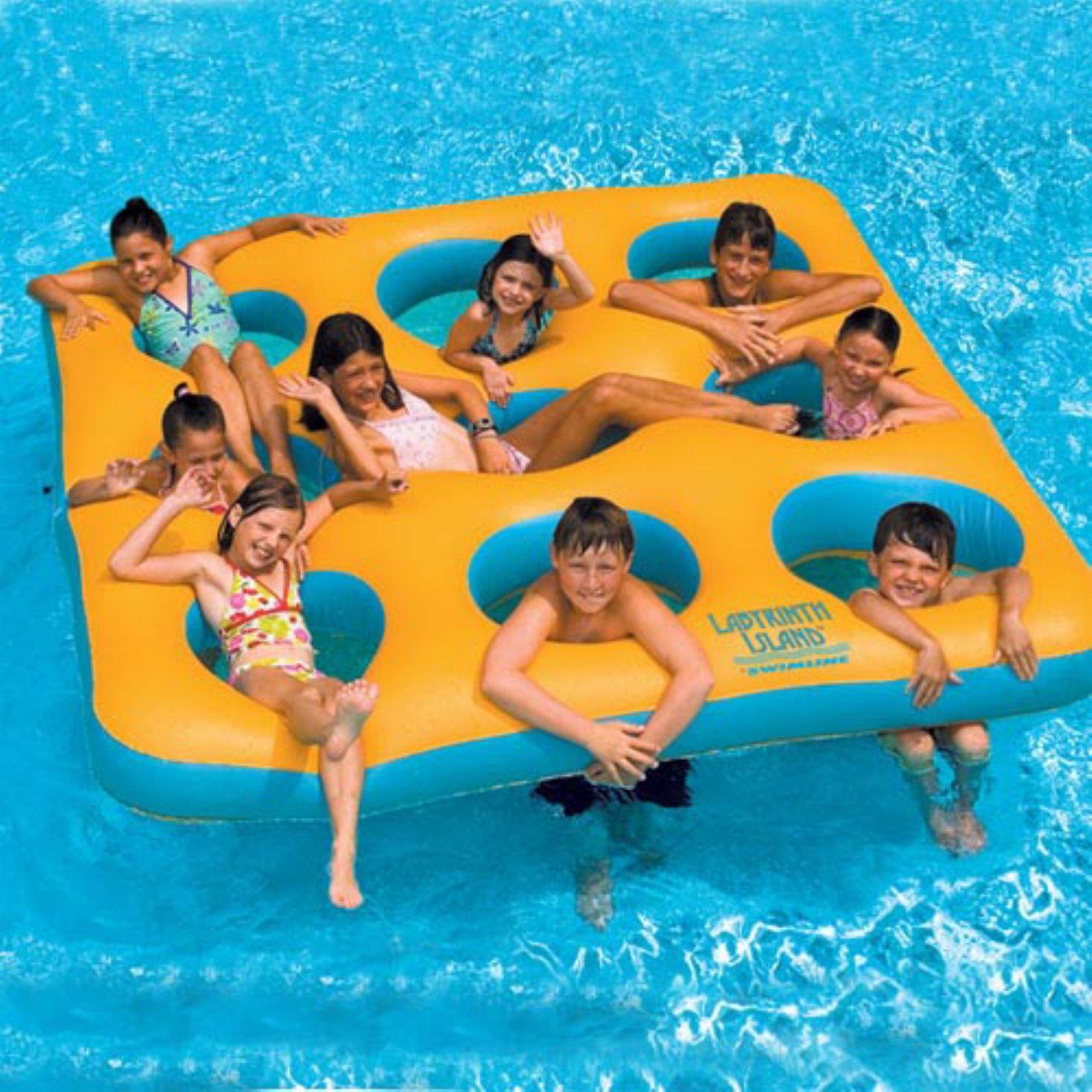 Blue Wave Labyrinth Inflatable Island