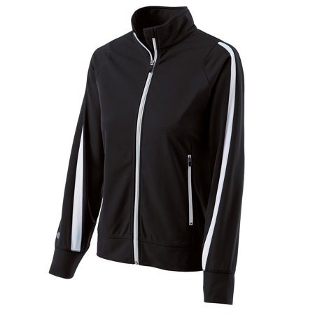 Holloway Lds Determination Jacket Blk/Whi S - image 1 of 1