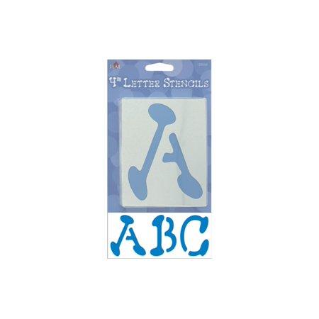 Plaid Stencil Paper Letter Upper 4