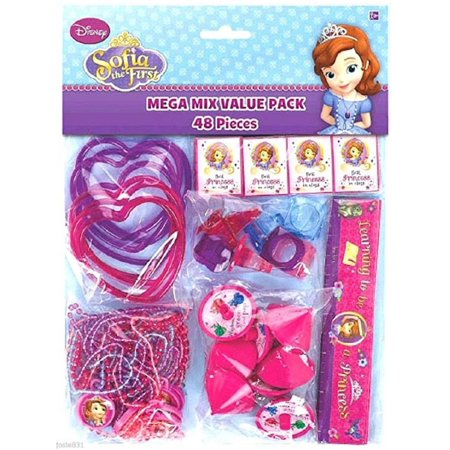 Party Favors - Sofia the First - Mega Mix Value Pack - 48pc Set - Sophia The First Party