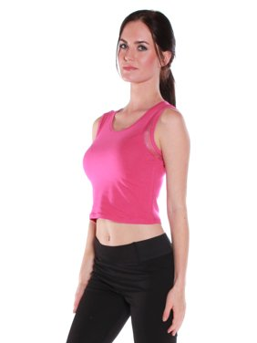 Product Image Color Story Women s Sexy Muscle Tank Crop Top with Sheer  Sides - Junior Sizing 30c7f2e17