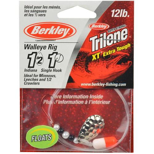 """Berkley 42"""" Walleye Rig, Hammered Silver, #WRSHI2F-HSVR"""