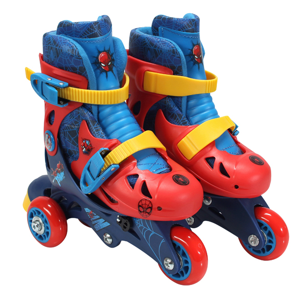 Playwheels Spider-Man Convertible 2-in-1 Kid's Skate, Junior Size 6-9