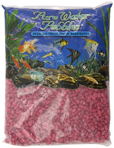 Pure Water Pebbles Aquarium Gravel 5-Pound Red Frost (Pack of 1) by