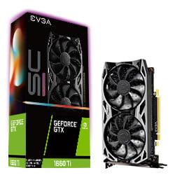 EVGA GeForce GTX 1660 Ti SC ULTRA GAMING, 06G-P4-1667-KR, 6GB GDDR6, Dual Fan, Metal Backplate - Plus Free TORQ X5 Mouse ()