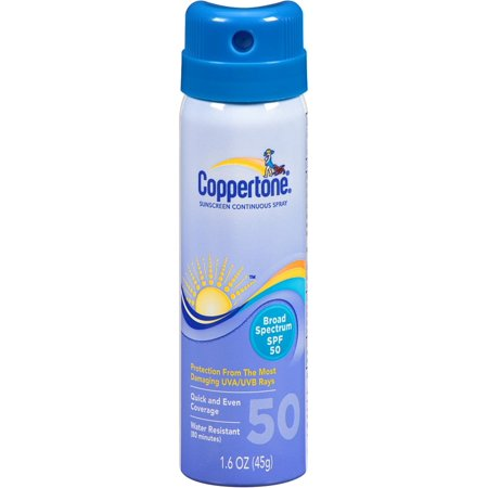 Coppertone Continuous Sunscreen Spray SPF 50 1.60 oz (Pack of 2)