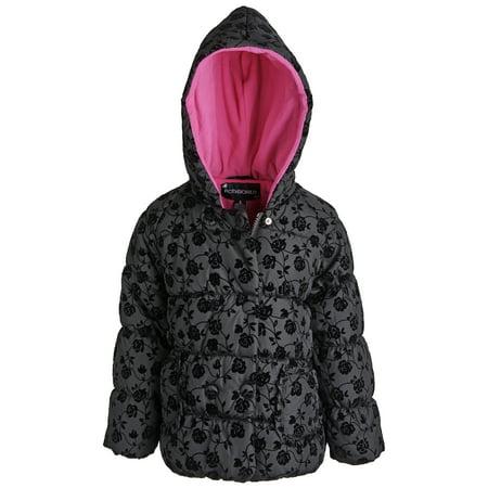 Rothschild Little Girls Down Alternative Fleece Winter Puffer Bubble Jacket Coat - Rothschild Wool Dress Coat