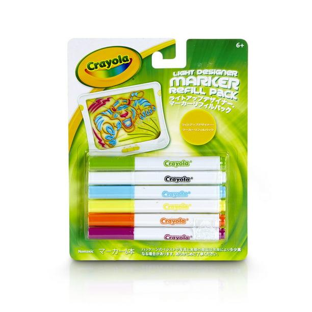 Crayola 6 Count Light Designer Marker Refill Pack Walmart Com Walmart Com