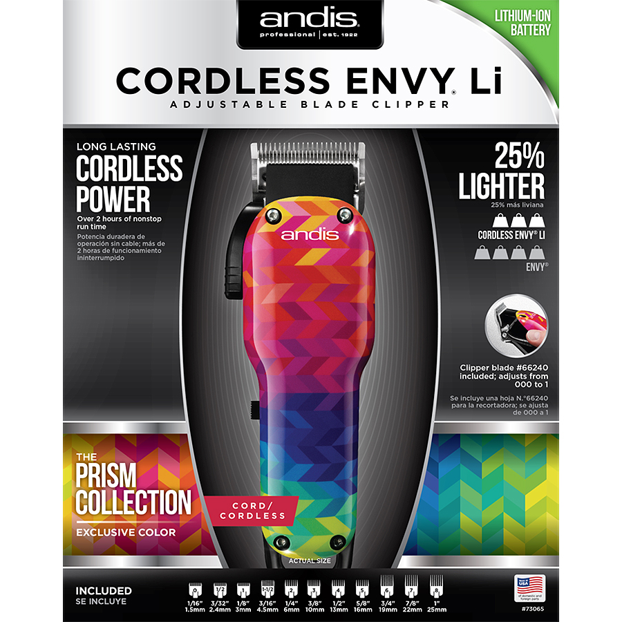 Best Cordless Clippers - Andis Prism Collection Cordless Envy Li Nation Adjustable Review