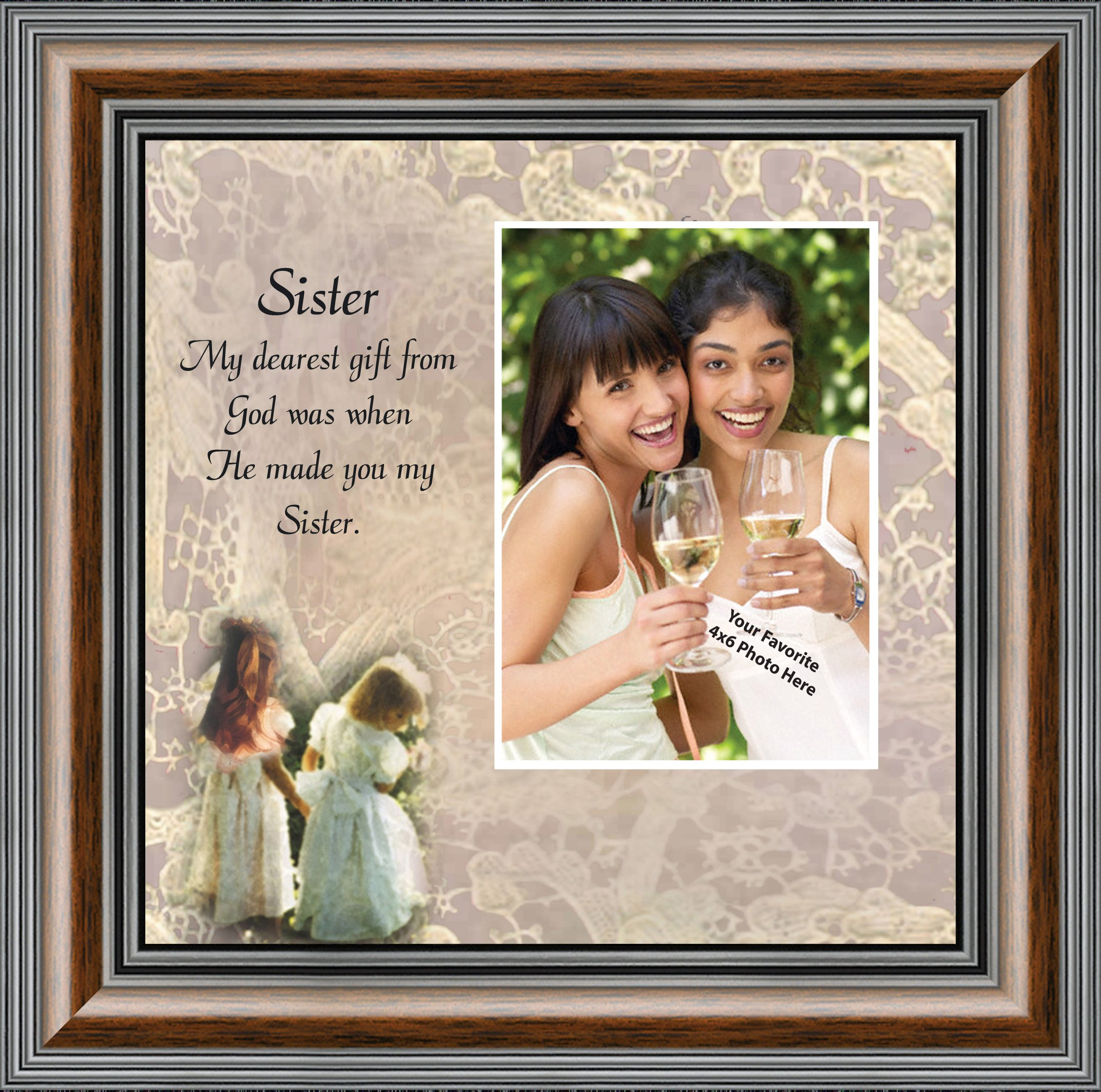 Sister Great Birthday Gift For Your Personalized Picture
