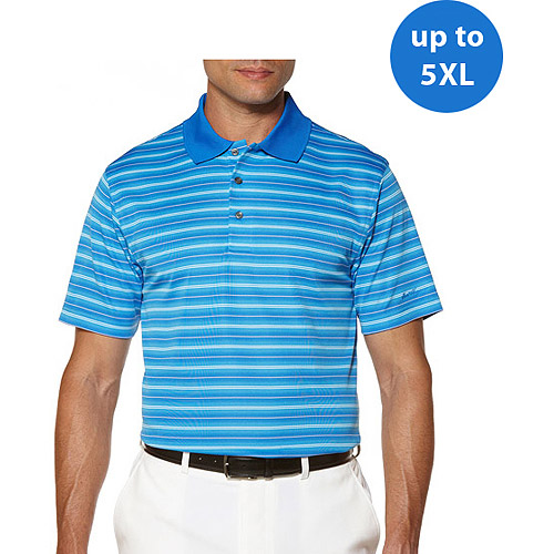 Ben Hogan's Big Men's Short Sleeve Stripe Yarn Dye Polo