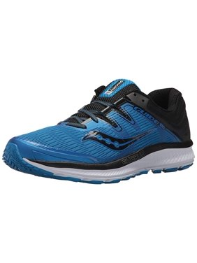 Saucony Men's Guide Iso Blue / Grey Vizi Red Ankle-High Fabric Running Shoe - 13M