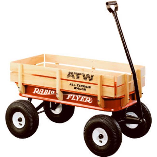 Radio Flyer 32 37.25 x 18.50 x 9.50 in. Red All Terrain Steel & Wood Wagon by Radio Flyer