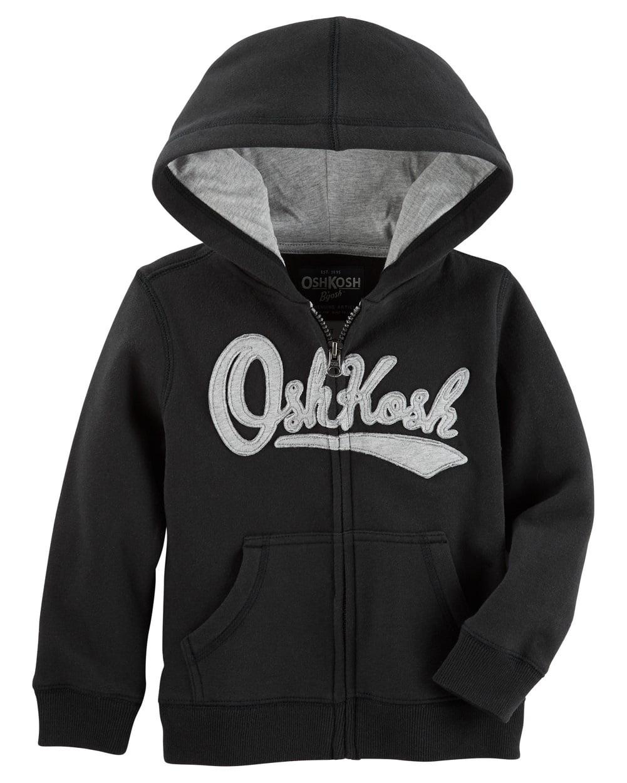 OshKosh B'gosh Baby Boys' Logo Fleece Hoodie, Black, 9 Months