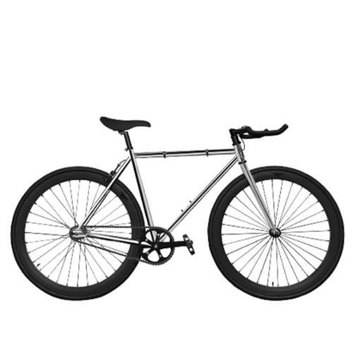 Zycle Fix ZF-DIA2-48 Diamond Ii Pursuit Fixie Bike, Chrome & Black - Size 48