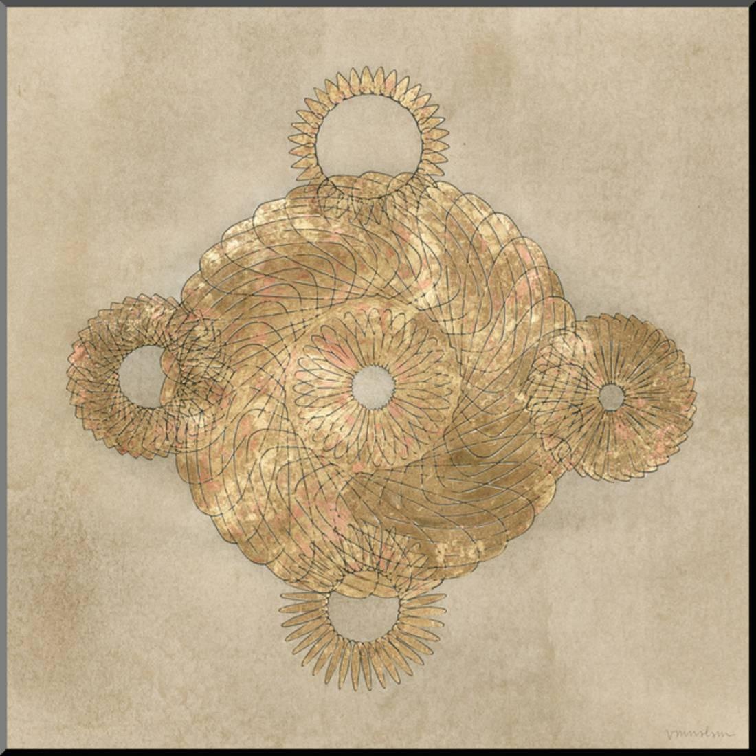 Solar Medallion II Wood Mounted Print By Vanna Lam - Walmart.com
