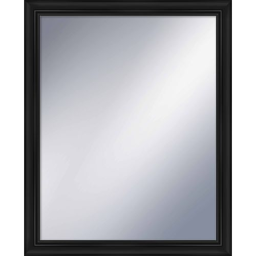 "PTM IMages 5-1203 32"" X 26"" Rectangular Mirror With Black Frame by PTM Images"