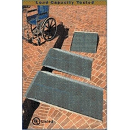 - 3-ft x 36-in Portable Solid Wheelchair Ramp 800 lb. Weight Capacity  Maximum 6-in Rise