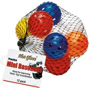 Hot Glove Baseball Mini Practice Balls, Assorted Colors, 12 Balls by