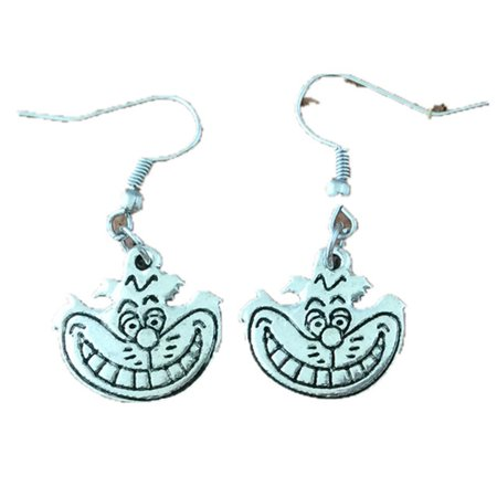 Dangle Earrings Alice In Wonderland Cheshire Cat In Gift Box by Superheroes ()