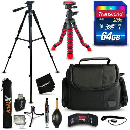 64GB Accessories Kit for Canon EOS 80D, 70D, 60D, 7D, 7D Mark ii, 6D, 5D, 5D