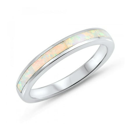925 Sterling Silver Lab opal Gem Ring (Sterling Silver Braided Ring)