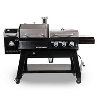 Pit Boss KC Combo Platinum Series, WiFi and Bluetooth Wood Pellet and Gas Grill