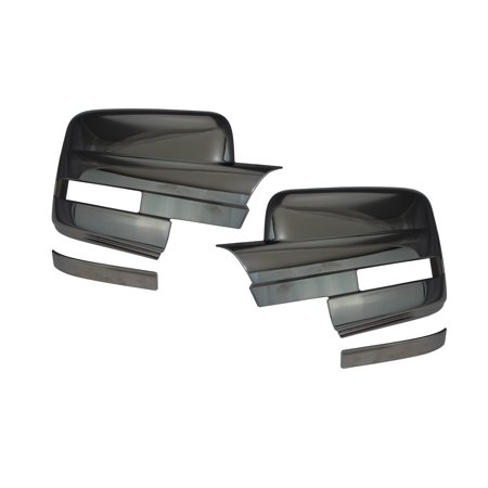 09-14 Ford F150 Black Chrome Mirror Cover Excludes Towing Mirror 09 10 11 12 13 (Wellstar Chrome Mirror Covers)