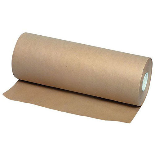 SchoolSmart Kraft Paper Roll, 50 lb, 1000', Brown