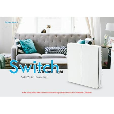 Aqara QBKG03LM Wireless Smart Wall Light Switch Double Key Control ZigBee  Version -white( Xiaomi Ecosystem Product )