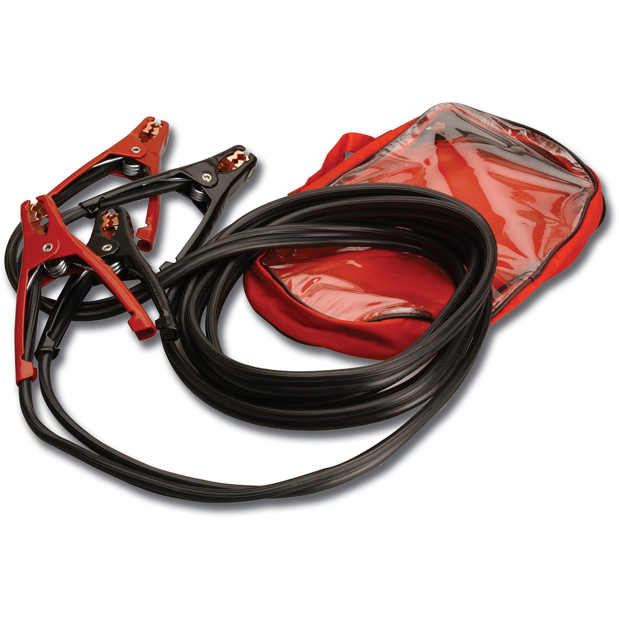 Everstart 08118-77-D8 10-Gauge Top Post and Side Terminal Automotive Booster Cables for Compact Vehicles, 12'