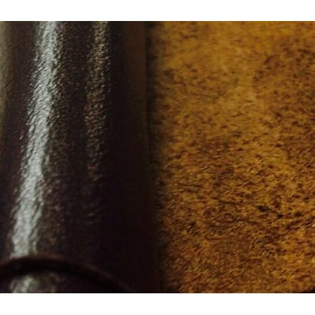 REED© LEATHER HIDES - COW SKINS VARIOUS COLORS  (12 X 24 Inches 2 Square Foot, DARK BROWN)