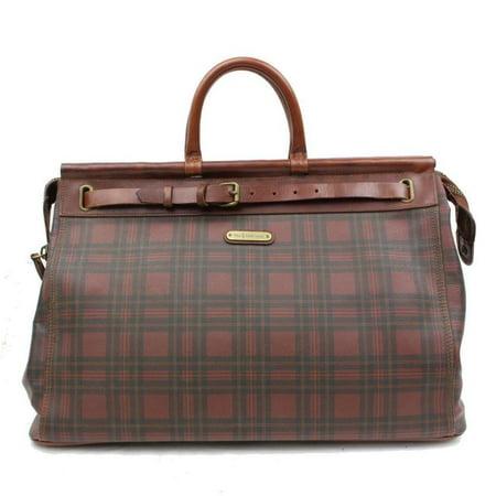Polo Ralph Lauren Plaid Xl Birkin Hac 2189909 Burgundy Travel Bag