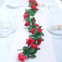 Efavormart 6 FT Long 3D Rose Chain Garland Wedding Supply for DIY Wedding Arrangements Party Baby Shower Decorations