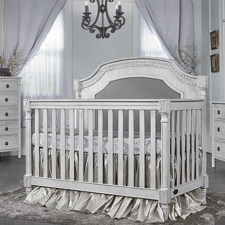 Evolur Julienne 5 in 1 Convertible Crib - Antique Grey