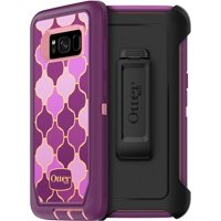 OtterBox Defender Series Three Layer Protection Case With Holster for Samsung Galaxy S8 - Non-Retail Packaging - Arabesque, Pink Purple Gold