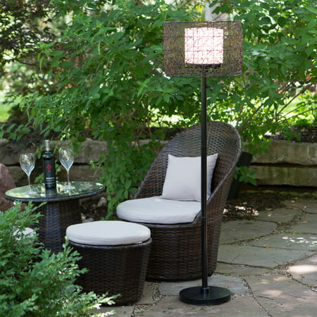 Image of Kenroy Home All-Weather Rattan Tanglewood Outdoor Floor Lamp, 59 Inch Height, Oil Rubbed Bronze Finished Powder Coated Steel, Rattan Bird-Nest Design Shade, UL Listed for Wet and Damp Locations