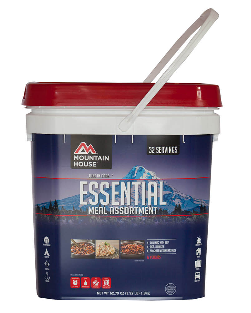 Mountain House (2 Pack) Essential Bucket (12 pouches) by Mountain House