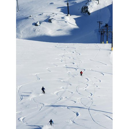 Powder Skiing at Whistler Mountain Resort Print Wall Art By Christian