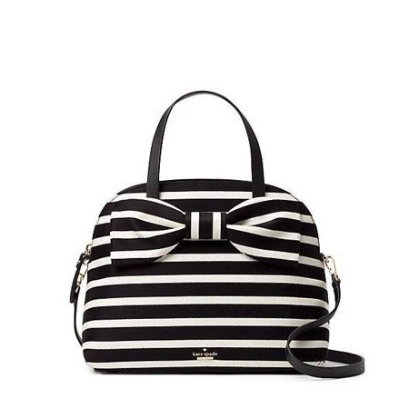 e9756684b200 NEW WOMEN'S KATE SPADE (PXRU8445) OLIVE DRIVE STRIPE LOTTIE SATCHEL HANDBAG  BAG