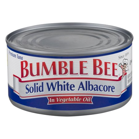 Reversible Bumble Bee ((2 Pack) Bumble Bee Solid White Albacore Tuna in Vegetable Oil, Canned Tuna Fish, High Protein Food, 12oz Can)