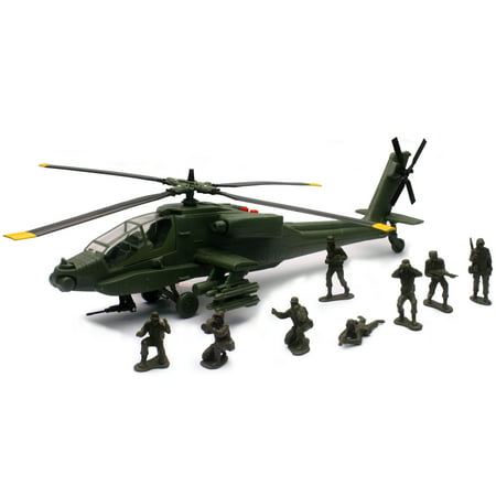 New-Ray Military Mission AH-64 Apache® Toy Helicopter - New Ray Helicopter
