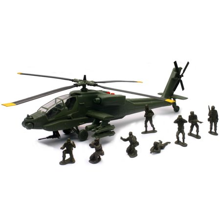 New-Ray Military Mission AH-64 Apache® Toy Helicopter