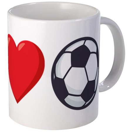 Cafepress I Heart Soccer Emoji Unique Coffee Mug Coffee Cup